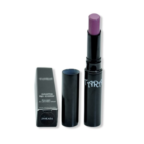 House of Tara Jankara purple lipstick